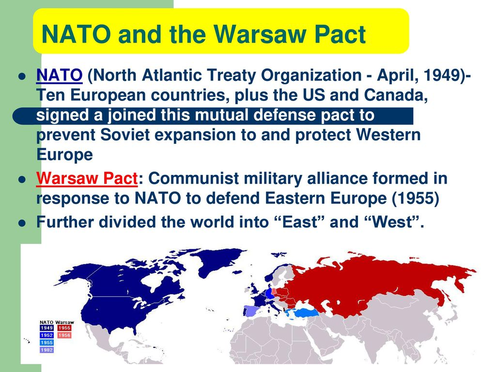 nato and the cold war However, because the post-war soviet threat was perceived to be against western europe, the headquarters of nato was based in brussels, belgium the original members of nato were usa, uk, belgium, the netherlands, luxemburg, france, canada, portugal, italy, norway, denmark and iceland.