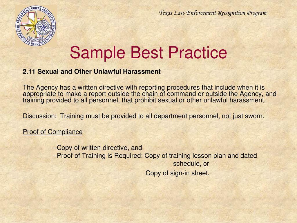 Texas Law Enforcement Recognition Program - ppt download