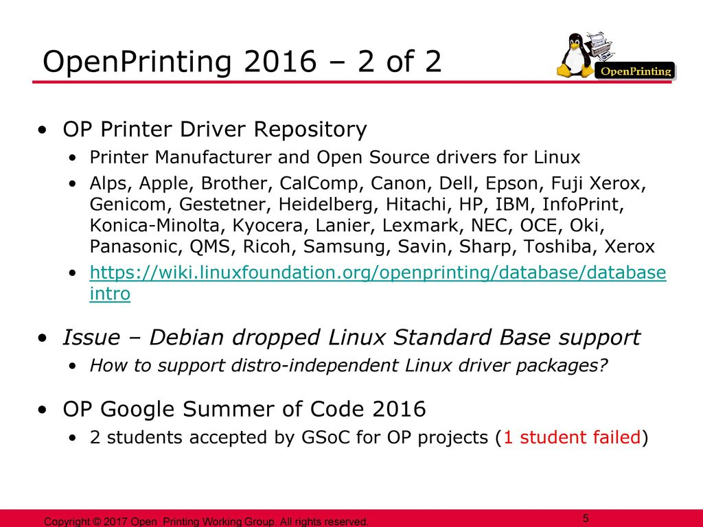 OpenPrinting Plenary 2 May ppt download