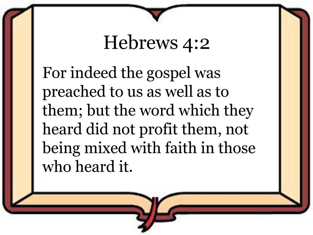 Image result for hebrews 4:2