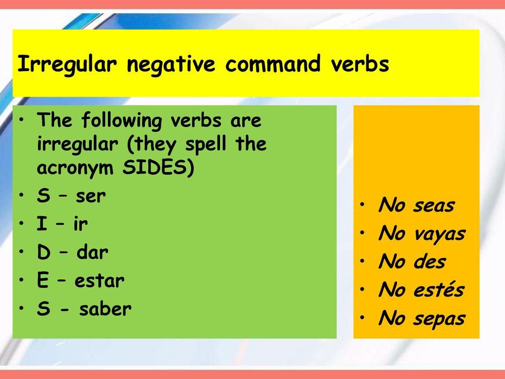 imperative verbs spanish board - HD1024×768