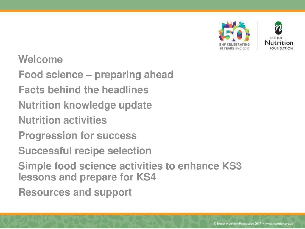 Developing your ks3 for success in gcse food preparation and welcome food science preparing ahead facts behind the headlines nutrition knowledge update forumfinder Gallery