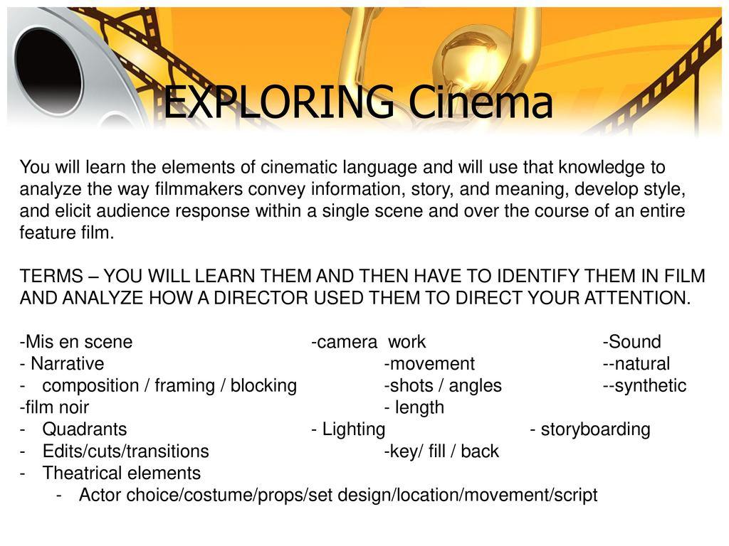 exploring cinema cpt fetterman ppt download