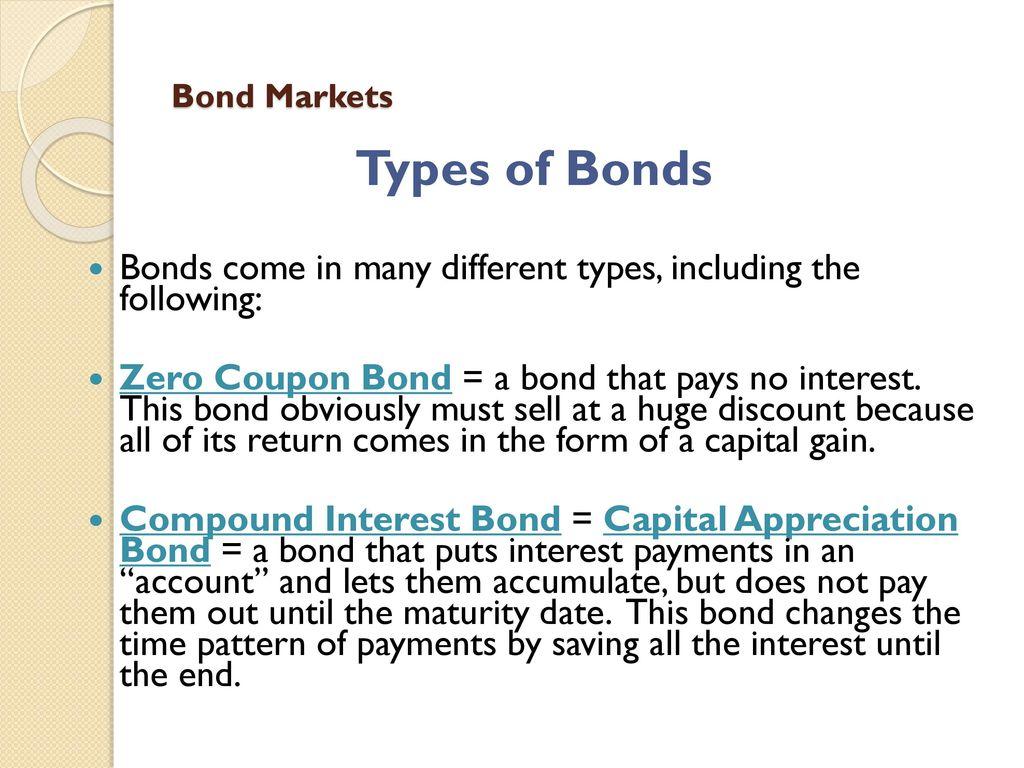 What is a bond Bond market. Types of bonds 61