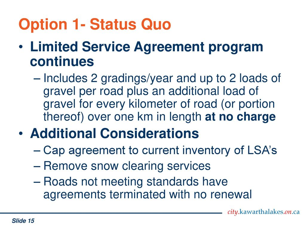 Core Service Review Maintenance Of Unassumed And Private Roadways