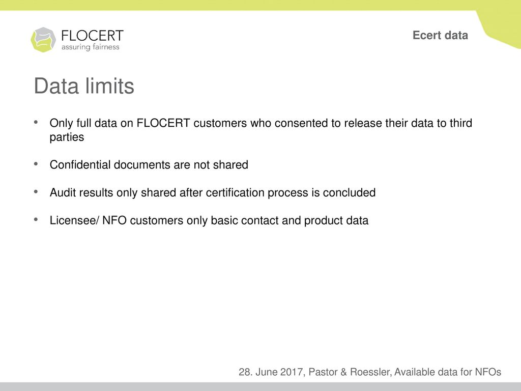 Available Data In Ecert Flotis For Nfos Ppt Download