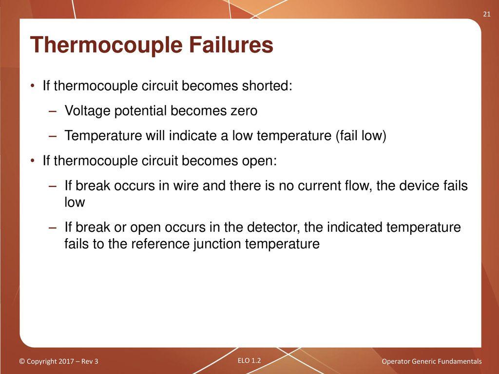 Operator Generic Fundamentals Components Sensors And Detectors 1 Thermocouple Circuit Failures