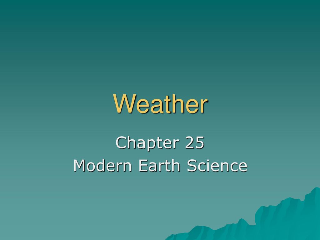 chapter 25 modern earth science ppt download