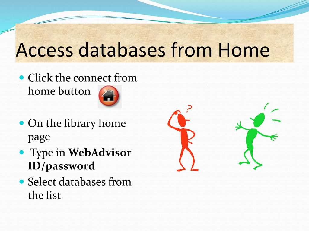 27 access databases from home