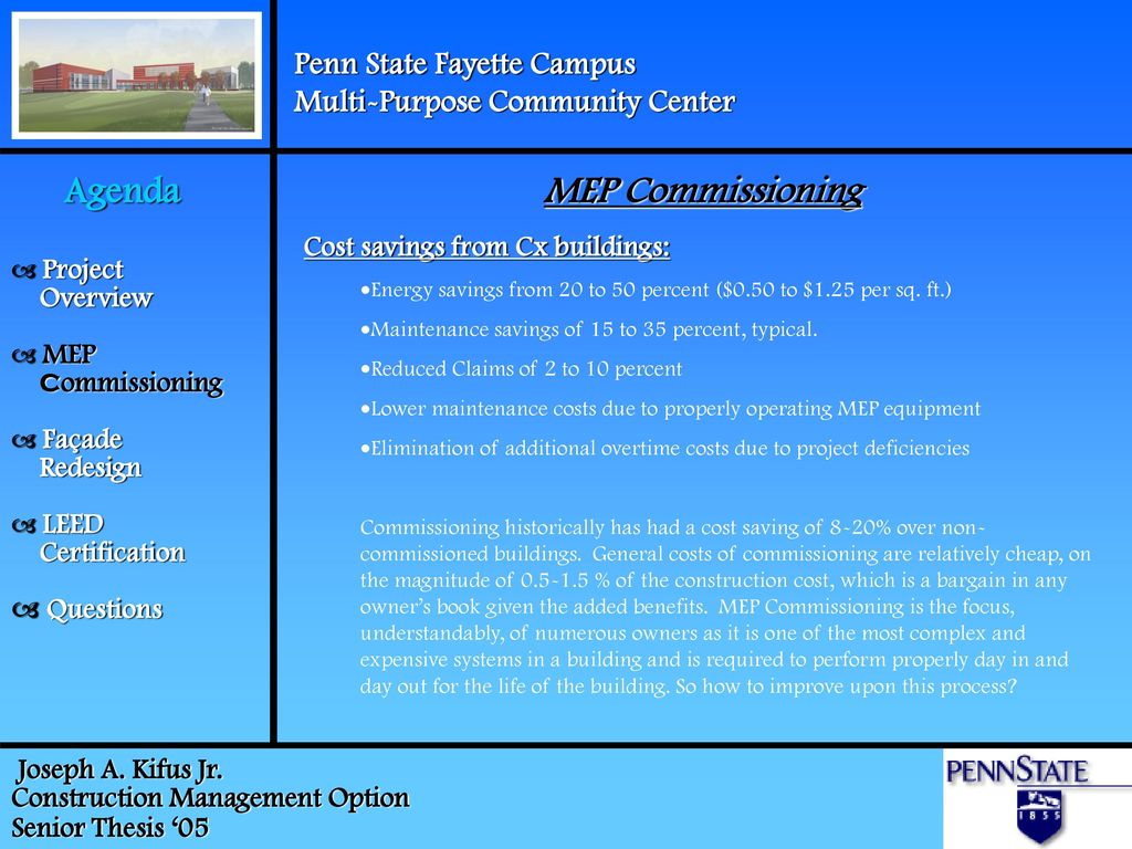 Penn State Fayette Campus Multi Purpose Community Center Ppt Download