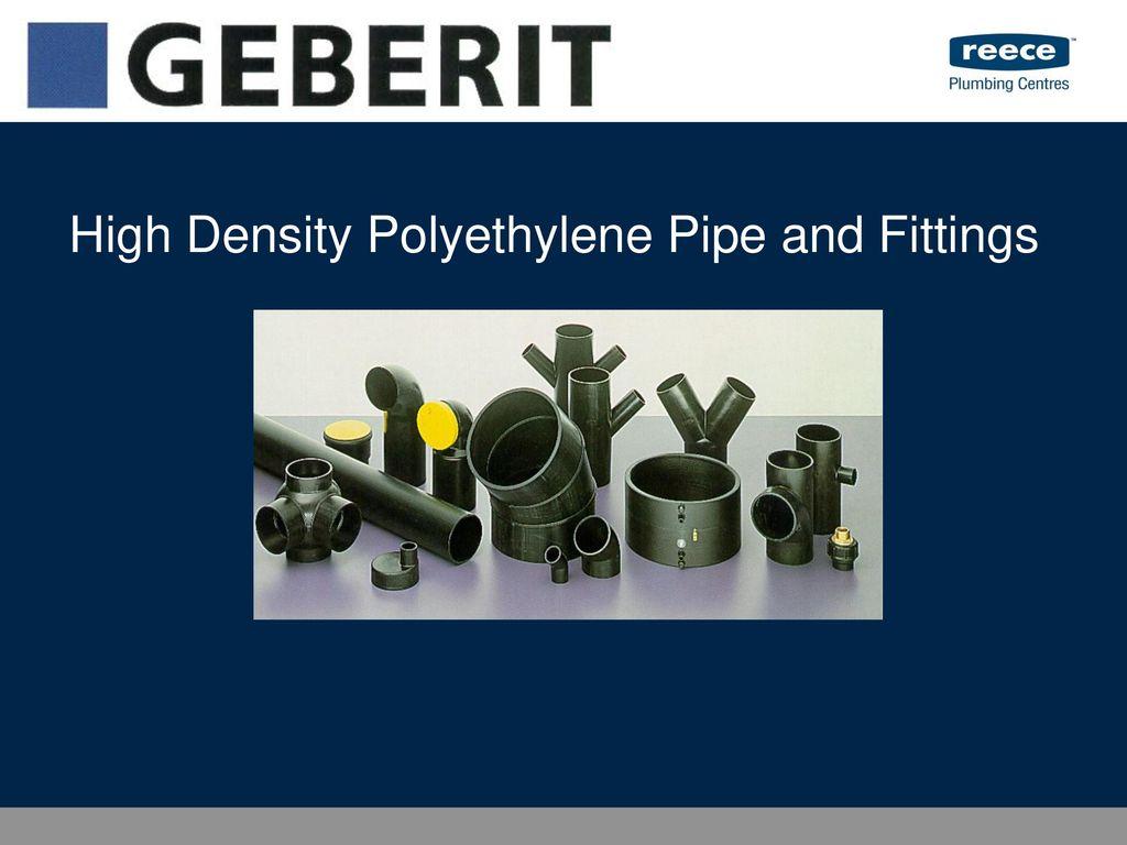 Presentation on theme  High Density Polyethylene Pipe and Fittings u2014 Presentation transcript 1 High Density Polyethylene Pipe and Fittings  sc 1 st  SlidePlayer & High Density Polyethylene Pipe and Fittings - ppt download