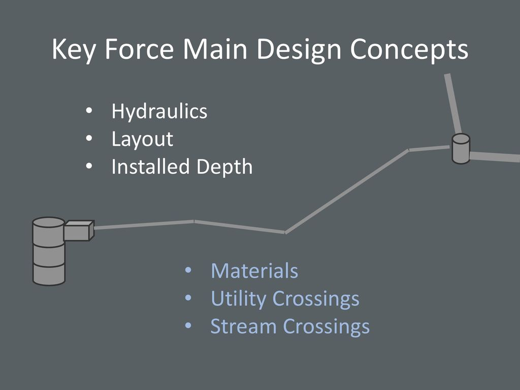 key force main design concepts