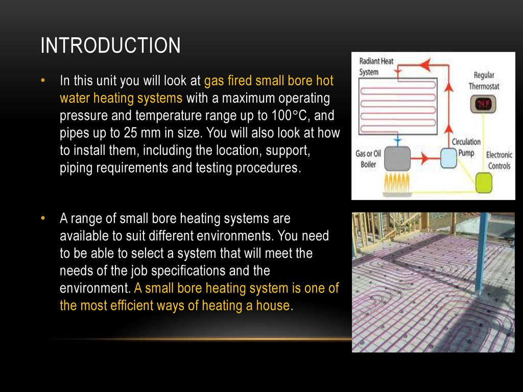 INSTALL SMALL BORE HEATING SYSTEMS - ppt download