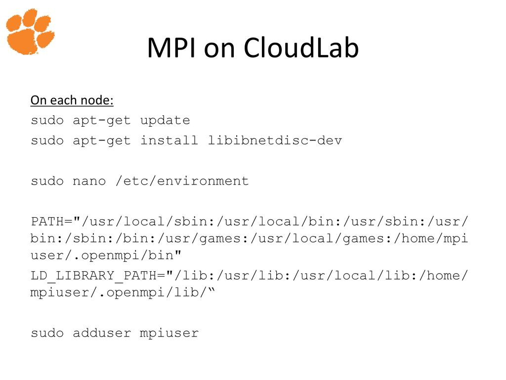 Distributed Computing using CloudLab - ppt download