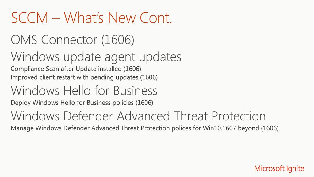 What's New in System Center Configuration Manager, Current