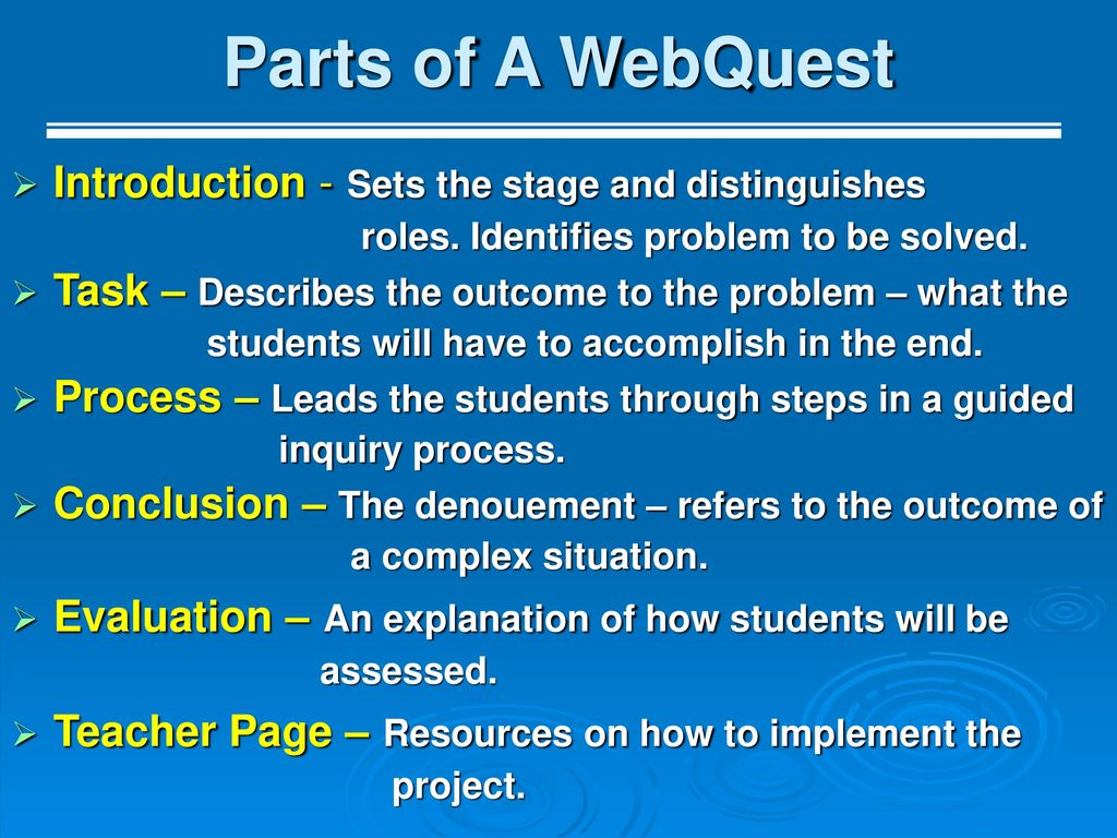 for an excellent WebQuest By Monica Stoilov - ppt download