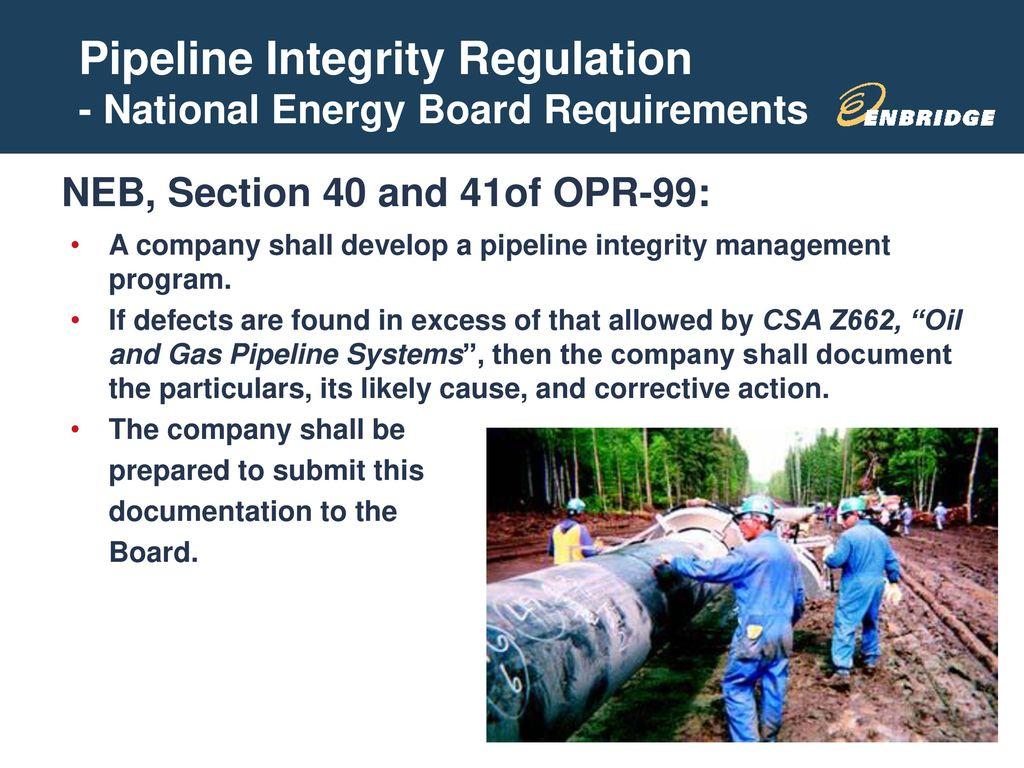 Pipeline Regulations Susan Miller Enbridge Technology Inc