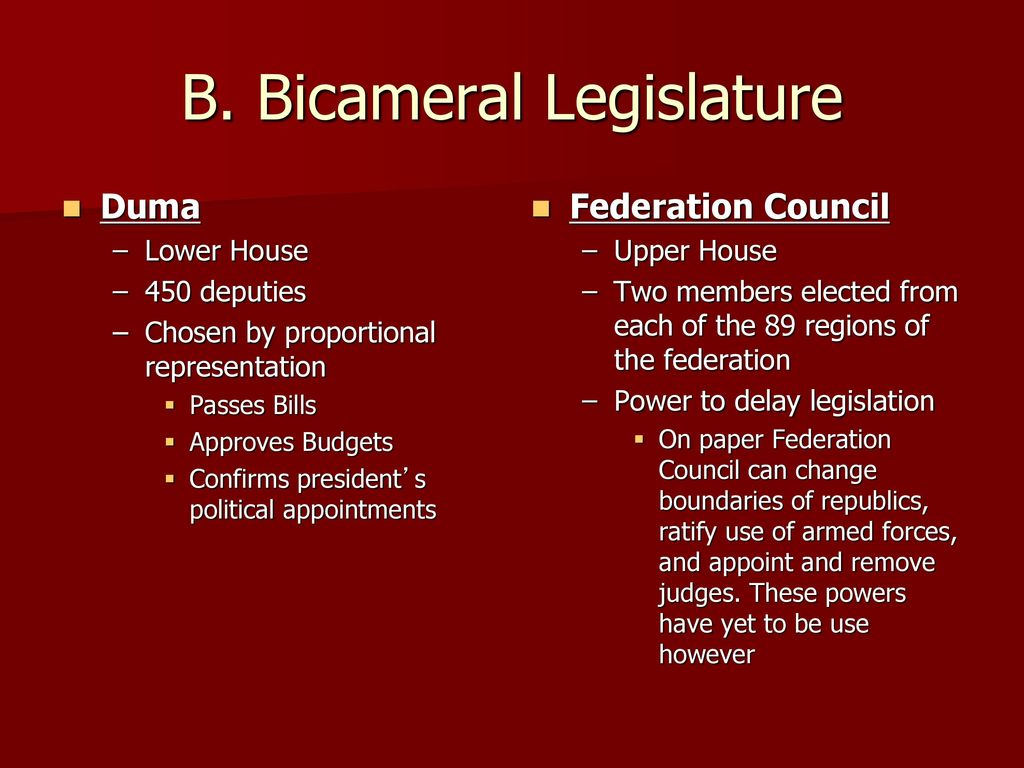 Powers of the Federation Council