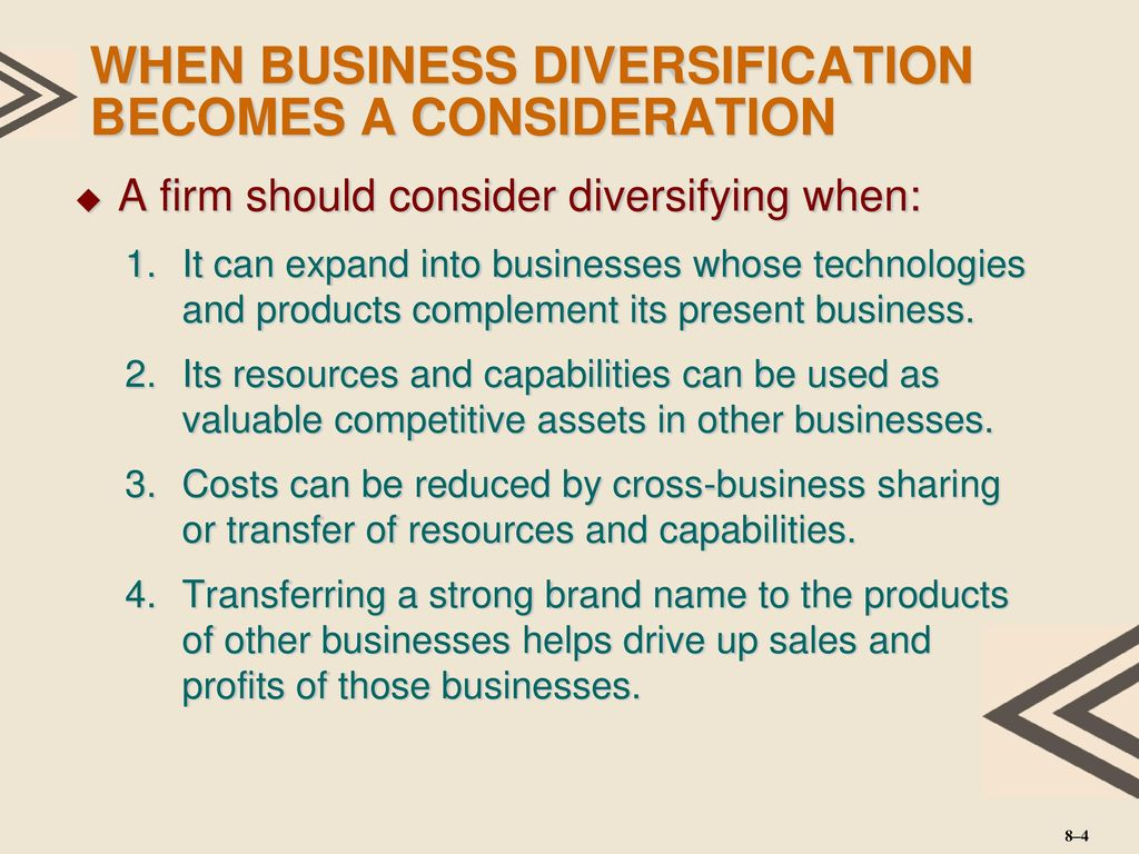 What is diversification, and what is it used for in business