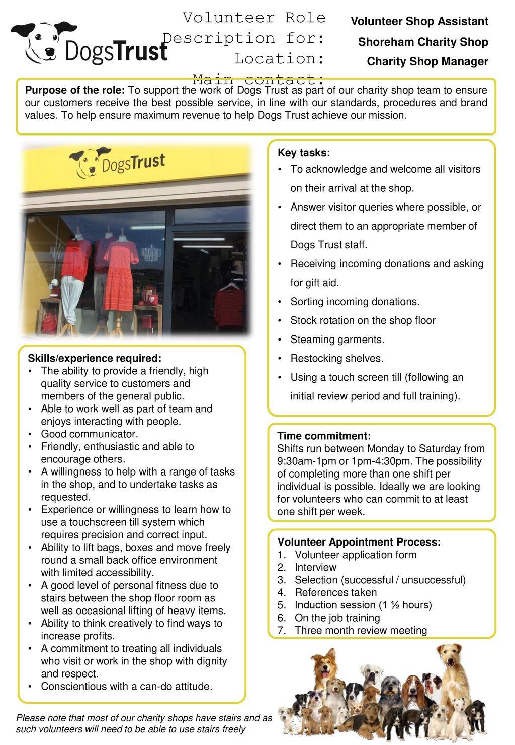 shop floor assistant duties