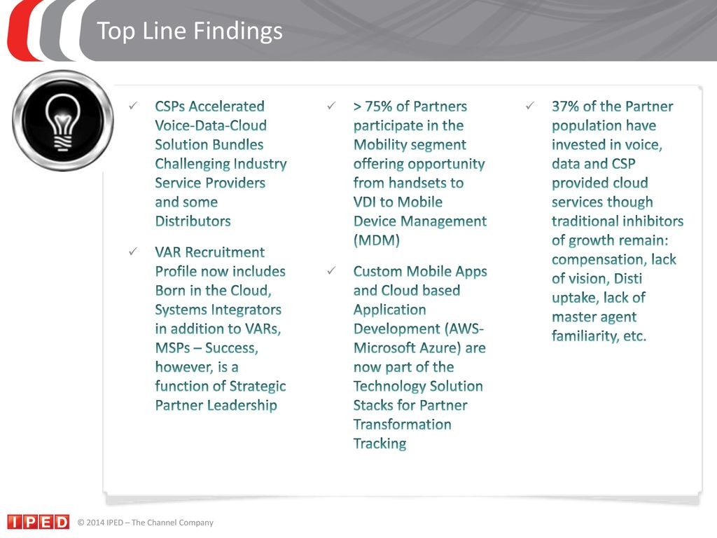 The Perspective of a Former Channel Chief - ppt download