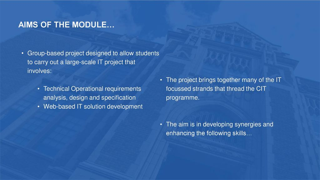 CSC 3047 CIT Enterprise Project Paul McMullan  - ppt download