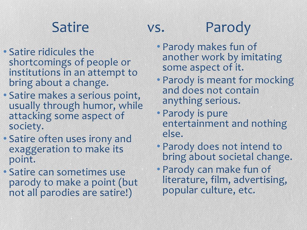Satire Vs Parody Ppt Download
