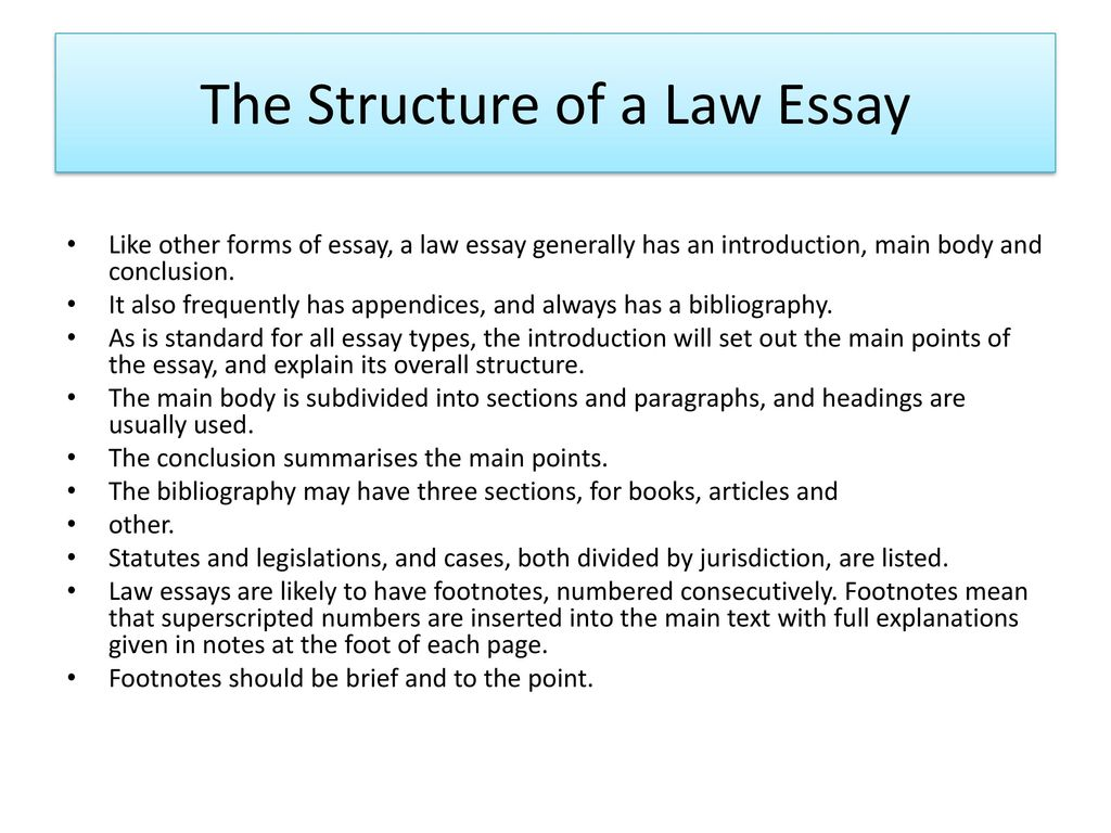 Legal Essay Writing  Ppt Download The Structure Of A Law Essay Thesis Statement For Education Essay also Fifth Business Essays  Essays On Different Topics In English