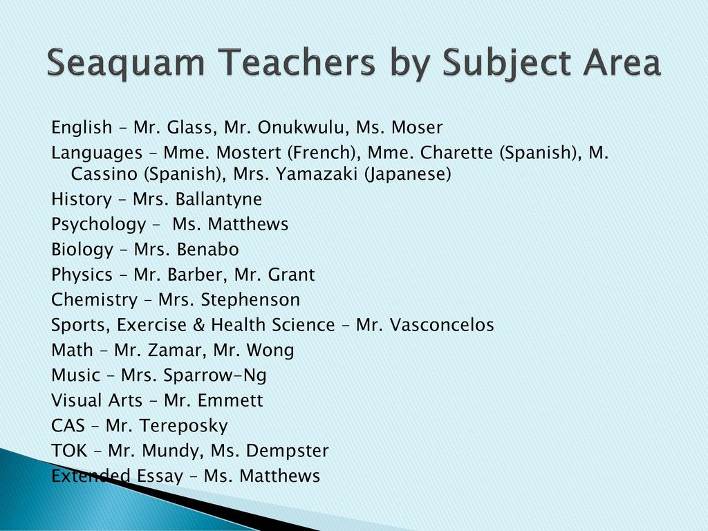 Are you IB? Seaquam IB. - ppt download
