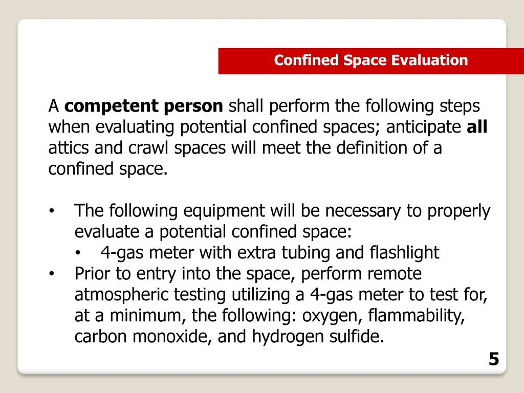 confined spaces in construction identification training - ppt download