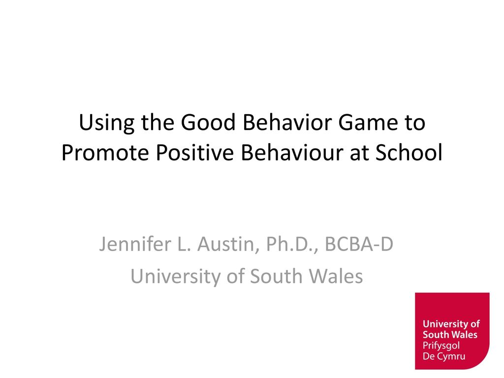 Using The Good Behavior Game To Promote Positive Behaviour
