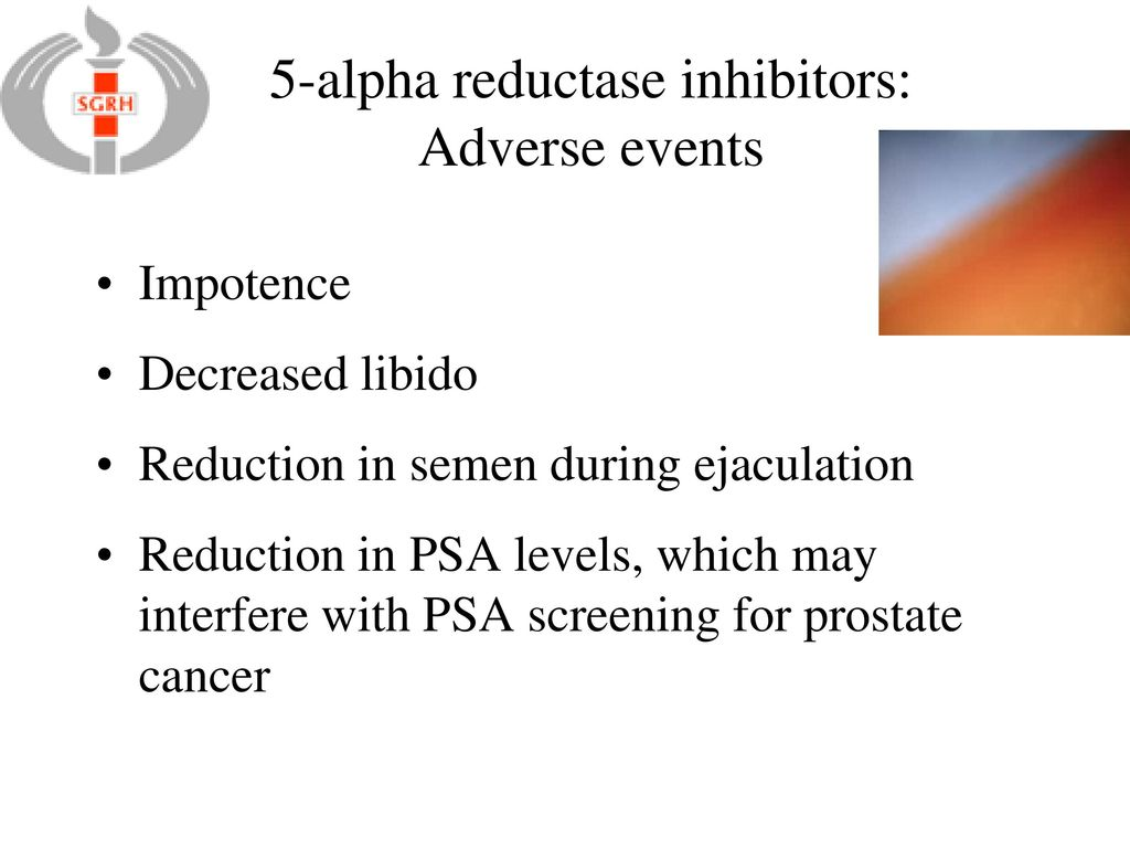5 Alpha Reductase Inhibitors Adverse Events