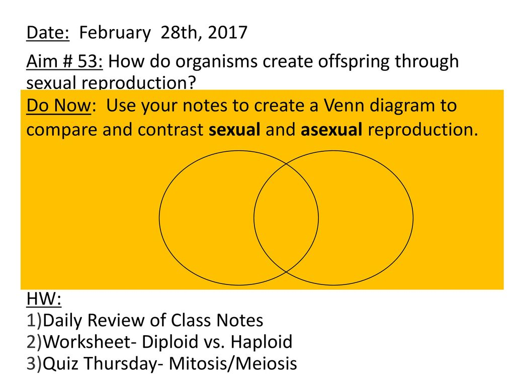 date february 28th 2017 aim 53 how do organisms create offspring through