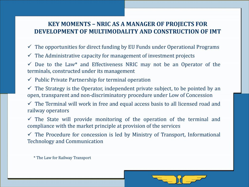 NATIONAL RAILWAY INFRASTRUCTURE COMPANY - ppt download
