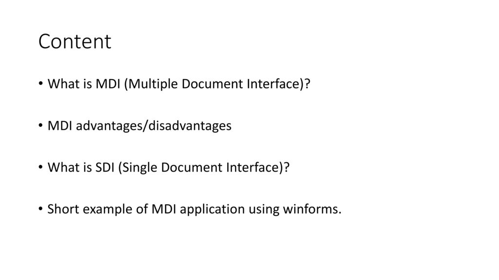 Multiple document interface (MDI) - ppt download