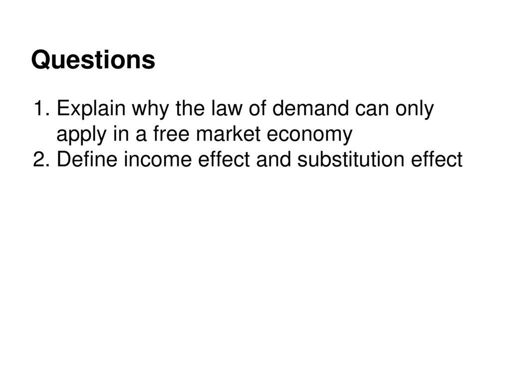 list the determinants of demand