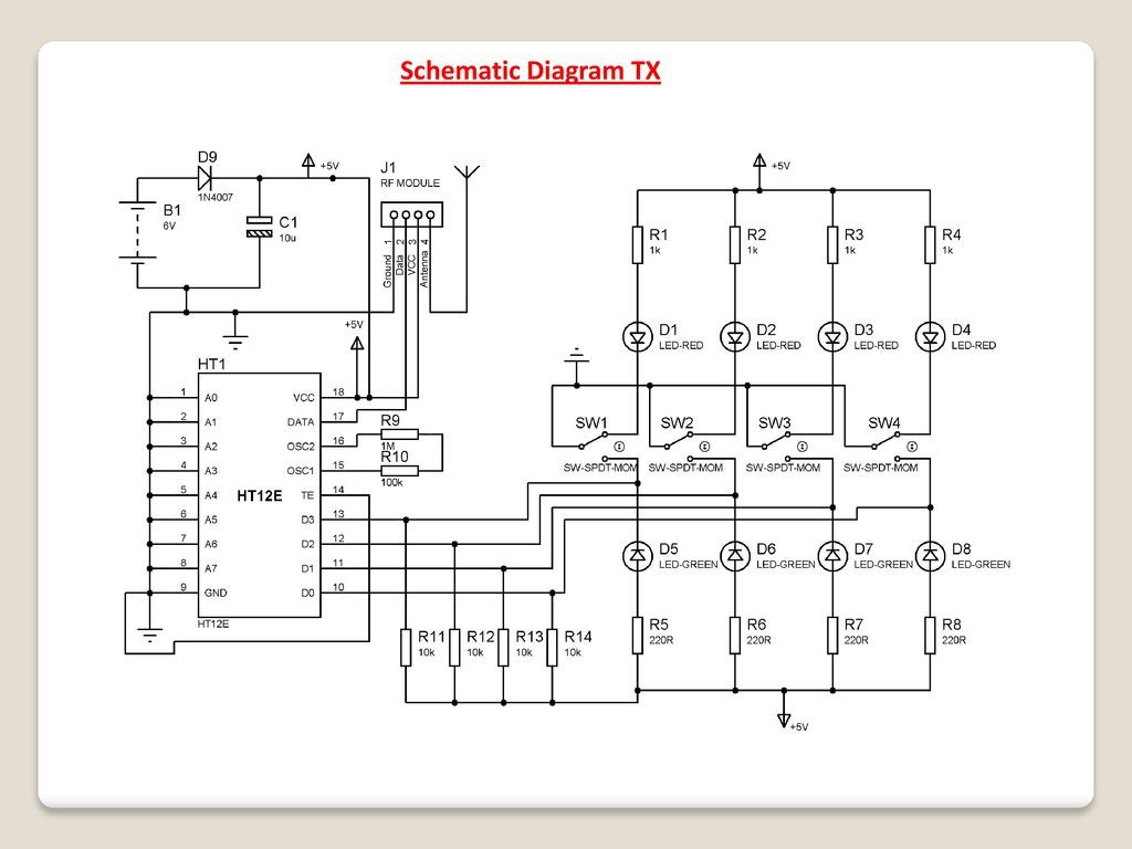 Density Based Traffic Signal With Remote Override In Emergency Ppt System For Vehicles 14 Schematic Diagram Tx