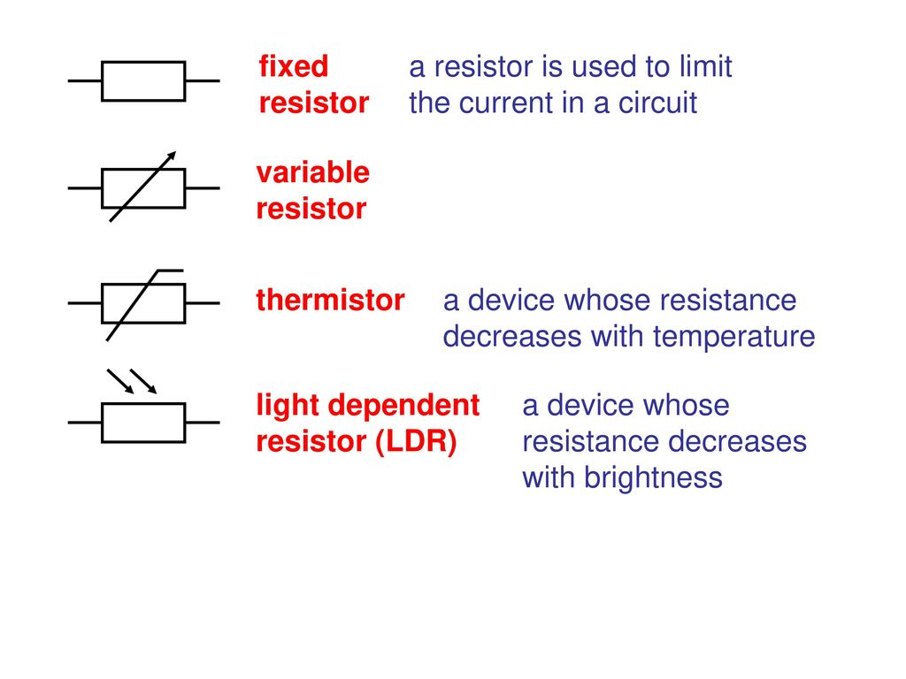 Edexcel Igcse Physics Pages 74 To Ppt Download Is Light On The Ldr It Allows Current Pass Through Circuit Fixed Resistor A Used Limit In Variable