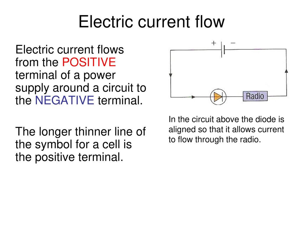 Edexcel Igcse Physics Pages 74 To Ppt Download Current Flow In A Circuit The Above Diode Is Aligned So That It Allows Through Radio