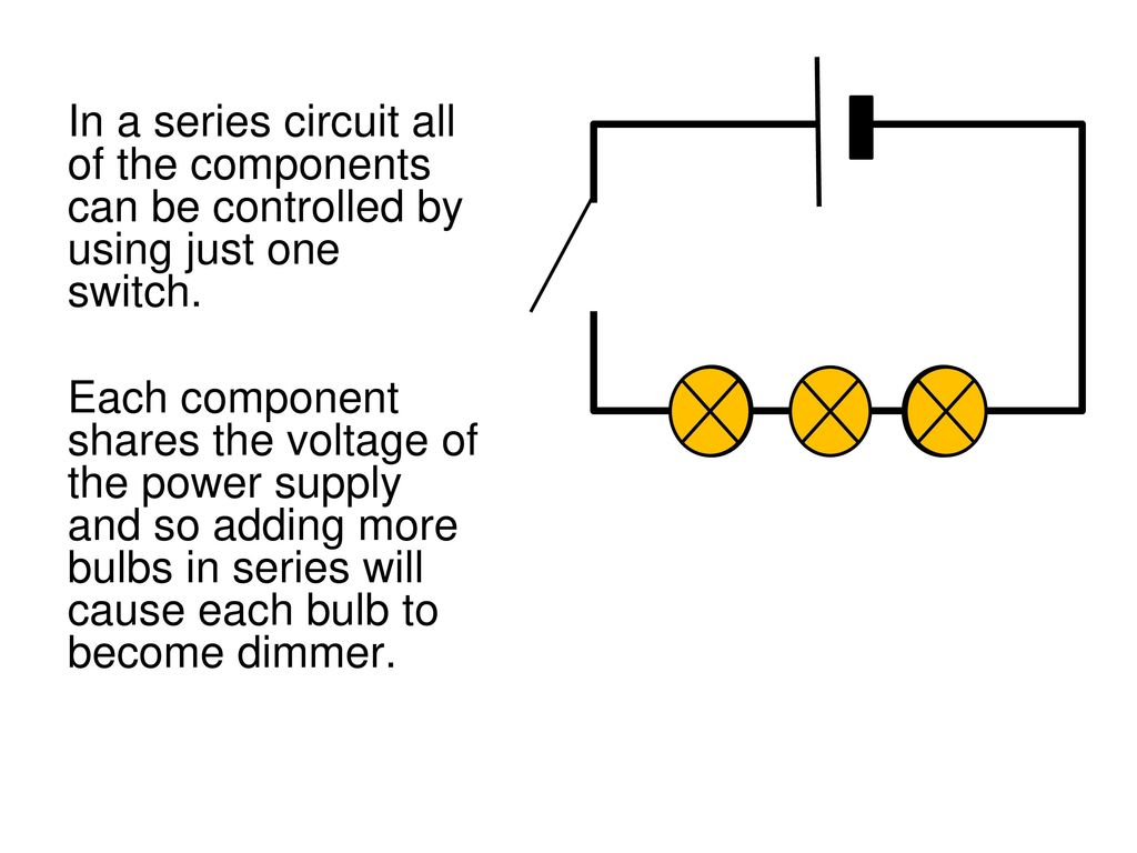 Edexcel Igcse Physics Pages 74 To Ppt Download Compare The Circuits Series Circuit Parallel Dimmer Bulbs In A All Of Components Can Be Controlled By Using Just One Switch 24
