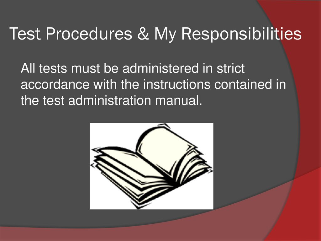 Mhs training for taks and staareoc ppt download test procedures my responsibilities fandeluxe Image collections