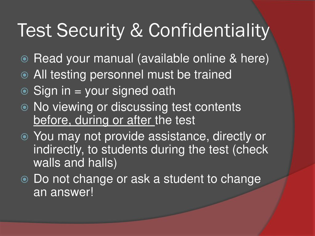 Mhs training for taks and staareoc ppt download test security confidentiality fandeluxe Image collections