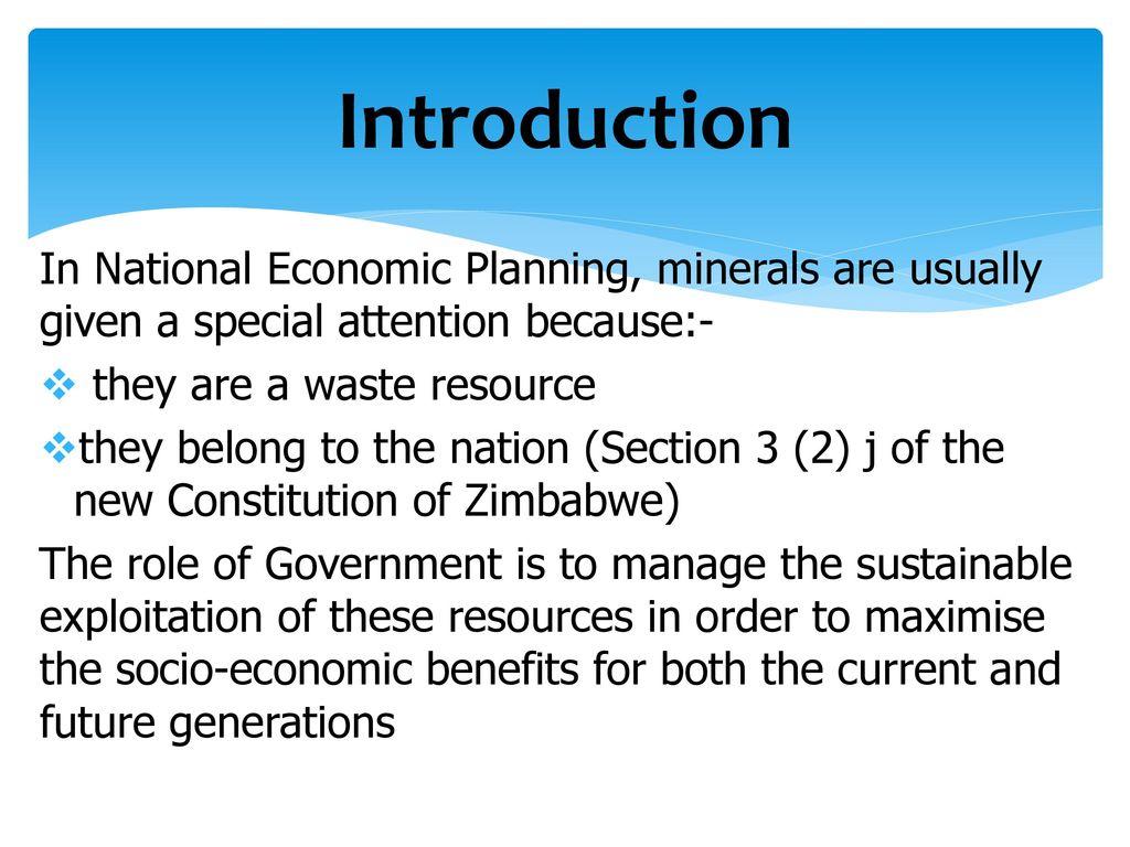benefits of economic planning