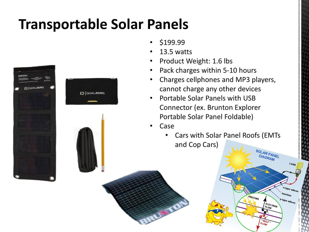 Alternative Power Source Charging System Ppt Download Nokia Mobile Phone Charger Circuit Diagram 45w 7 Transportable Solar Panels