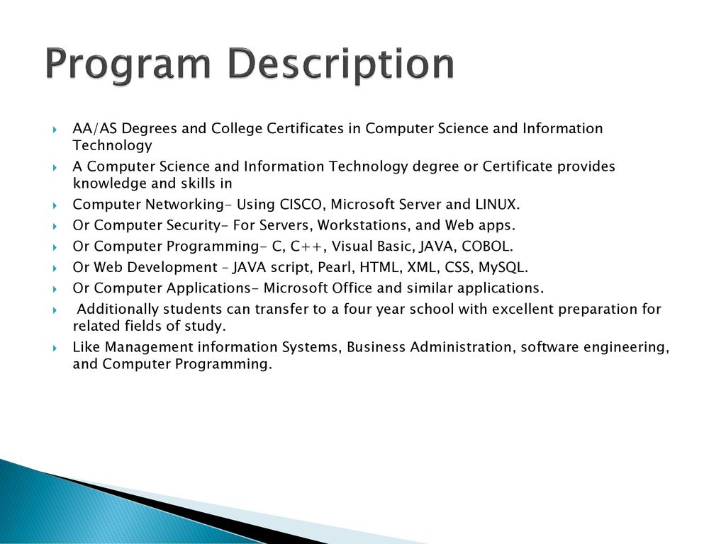 Computer Science And Information Technology Ppt Download