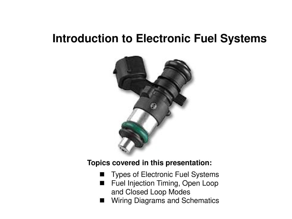 Introduction to Electronic Fuel Systems