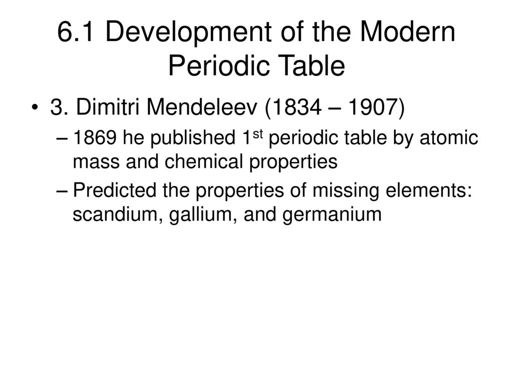 The Periodic Table And Periodic Law Ppt Download