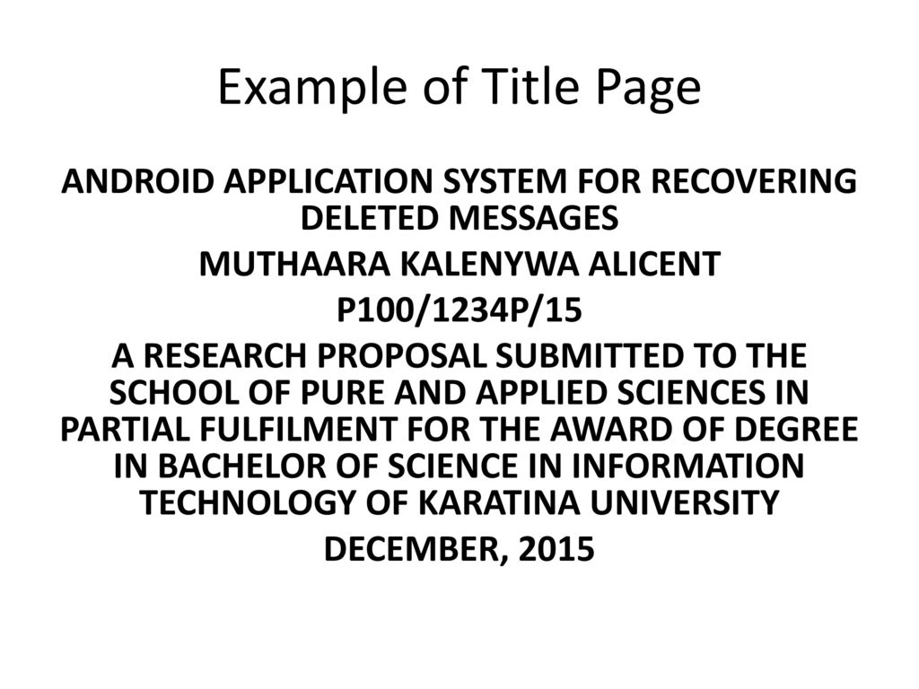 Research Proposal Format Ppt Download