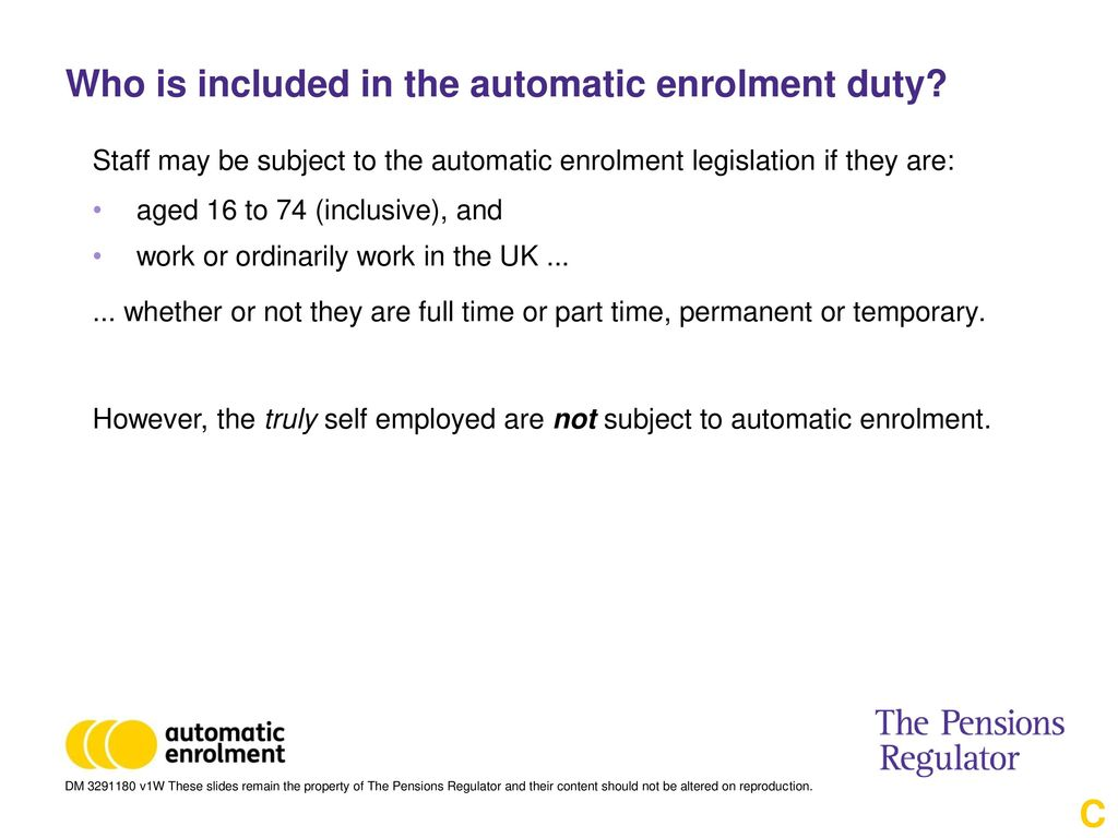 Automatic enrolment care professionals event ppt download who is included in the automatic enrolment duty spiritdancerdesigns Images