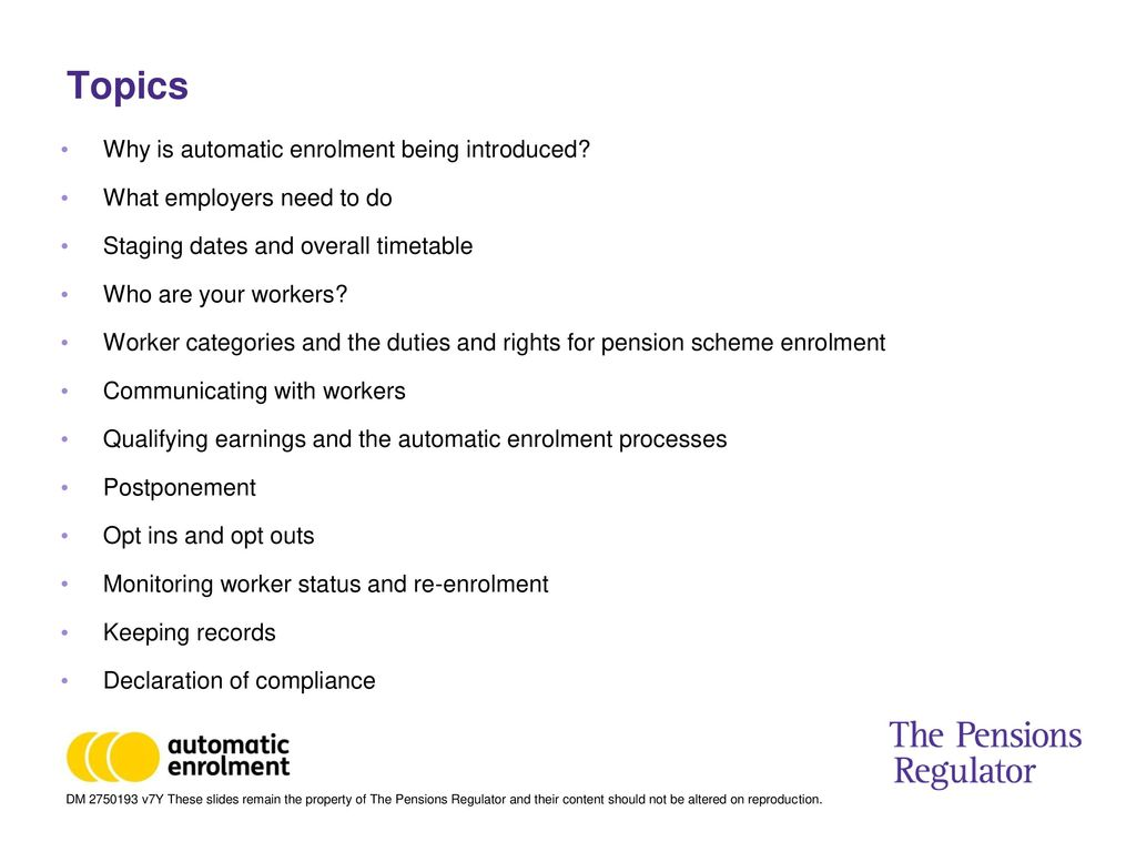 Automatic enrolment care professionals event ppt download topics why is automatic enrolment being introduced spiritdancerdesigns Images